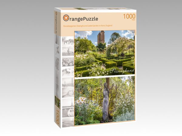 "Puzzle Motiv ""Paradiesgarten Sissinghurst Castle Garden in Kent, England"" - Puzzle-Schachtel zu 1000 Teile Puzzle"
