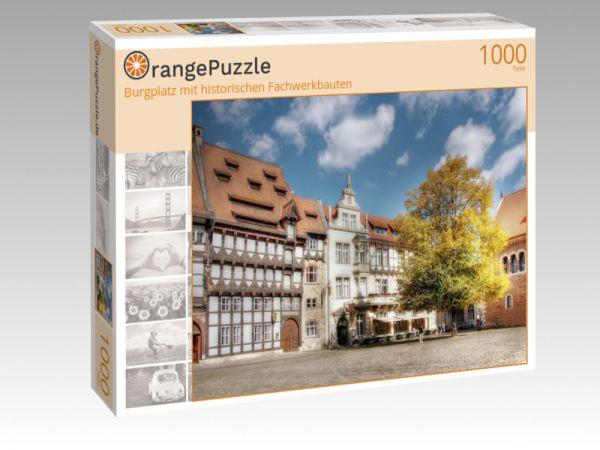 """Puzzle Motiv """"Burgplatz mit historischen Fachwerkbauten"""" - Puzzle-Schachtel zu 1000 Teile Puzzle"""