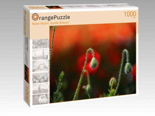 "Puzzle Motiv ""Roter Mohn, bunte Wiesen"" - Puzzle-Schachtel zu 1000 Teile Puzzle"