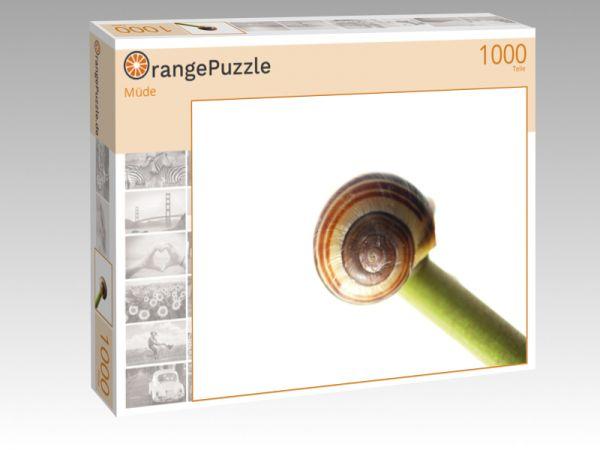 """Puzzle Motiv """"Müde"""" - Puzzle-Schachtel zu 1000 Teile Puzzle"""