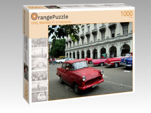 "Puzzle Motiv ""OPEL REKORD P1 in Havanna"" - Puzzle-Schachtel zu 1000 Teile Puzzle"