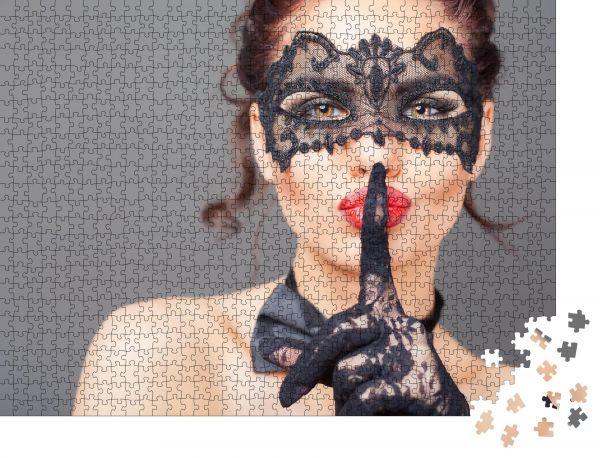 """Puzzle-Motiv """"Sexy Frau mit Karnevalsmaske Geheim Mode Venezianischer Karneval"""" - Puzzle-Schachtel zu 1000 Teile Puzzle"""