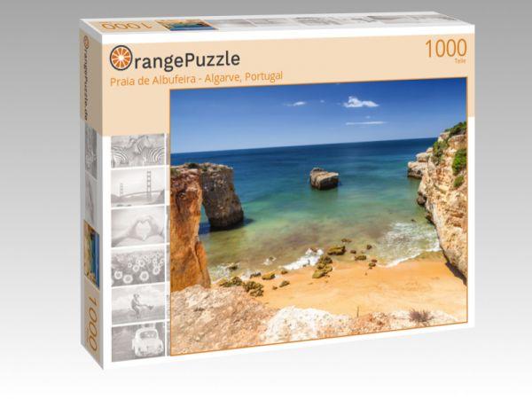 """Puzzle Motiv """"Praia de Albufeira - Algarve, Portugal"""" - Puzzle-Schachtel zu 1000 Teile Puzzle"""