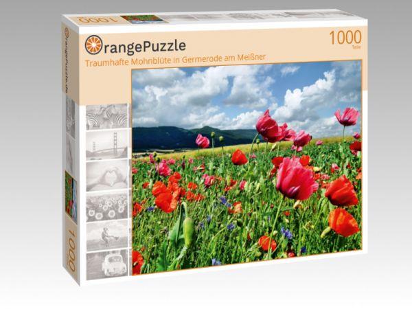 """Puzzle Motiv """"Traumhafte Mohnblüte in Germerode am Meißner"""" - Puzzle-Schachtel zu 1000 Teile Puzzle"""