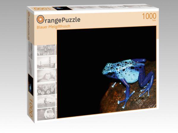 """Puzzle Motiv """"Blauer Pfeilgiftfrosch"""" - Puzzle-Schachtel zu 1000 Teile Puzzle"""