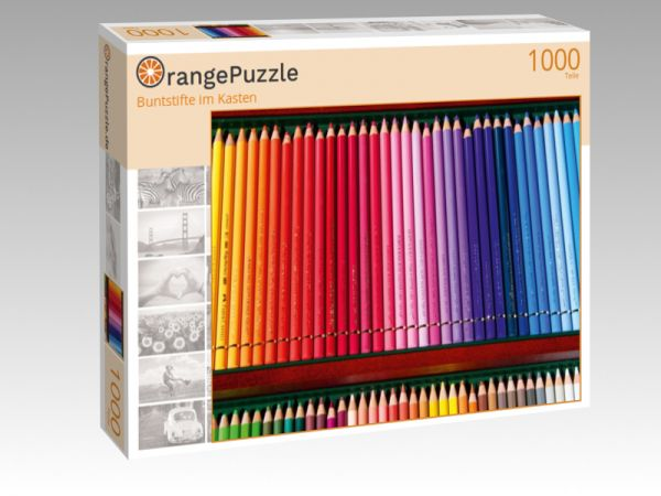"""Puzzle Motiv """"Buntstifte im Kasten"""" - Puzzle-Schachtel zu 1000 Teile Puzzle"""
