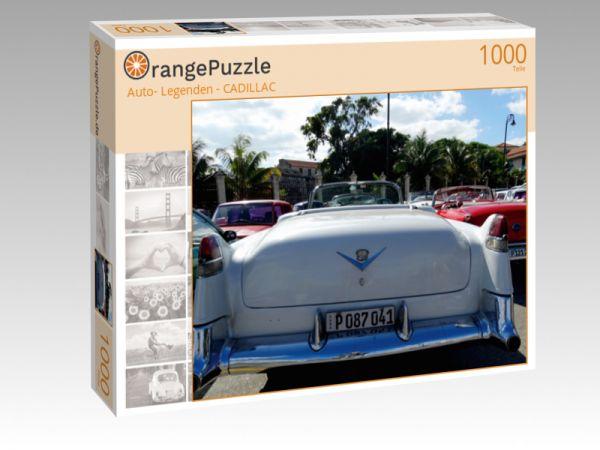 """Puzzle Motiv """""""" Auto- Legenden - CADILLAC"""""""" - Puzzle-Schachtel zu 1000 Teile Puzzle"""