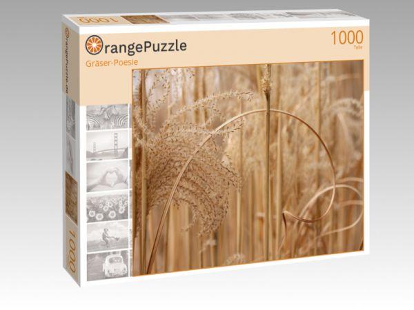 """Puzzle Motiv """"Gräser-Poesie"""" - Puzzle-Schachtel zu 1000 Teile Puzzle"""
