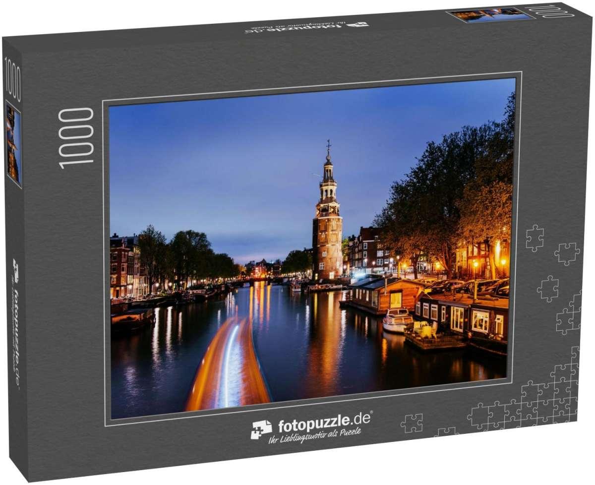 Puzzle Wunderschöne Nacht in Amsterdam | OrangePuzzle