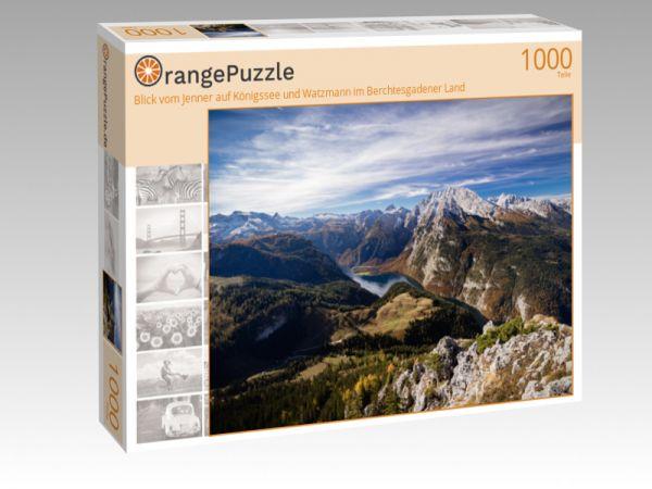 """Puzzle Motiv """"Blick vom Jenner auf Königssee und Watzmann im Berchtesgadener Land"""" - Puzzle-Schachtel zu 1000 Teile Puzzle"""