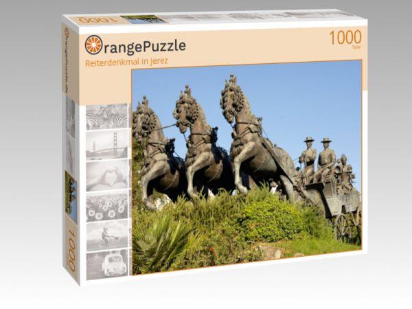 """Puzzle Motiv """"Reiterdenkmal in Jerez"""" - Puzzle-Schachtel zu 1000 Teile Puzzle"""