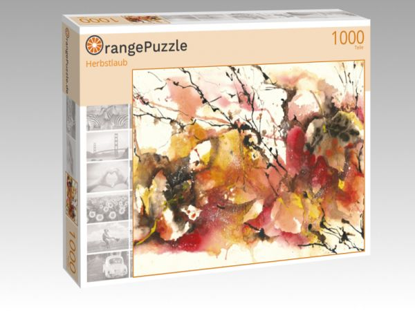 "Puzzle Motiv ""Herbstlaub"" - Puzzle-Schachtel zu 1000 Teile Puzzle"