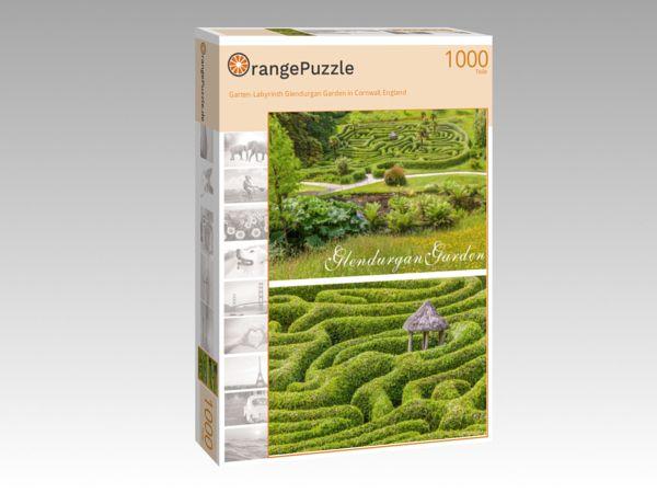 """Puzzle Motiv """"Garten-Labyrinth Glendurgan Garden in Cornwall, England"""" - Puzzle-Schachtel zu 1000 Teile Puzzle"""