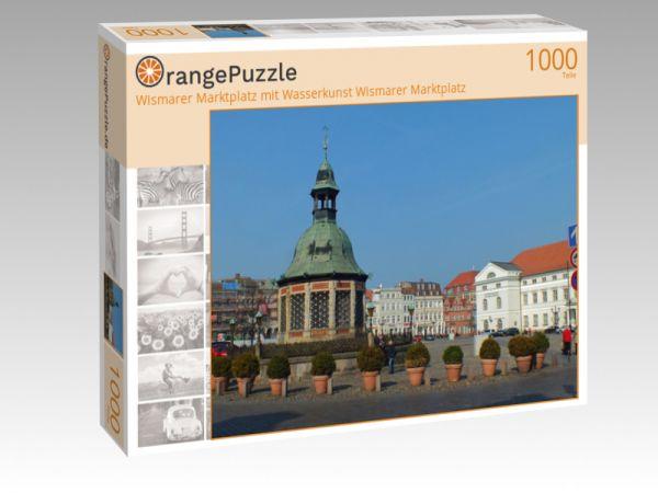 """Puzzle Motiv """"Wismarer Marktplatz mit Wasserkunst Wismarer Marktplatz"""" - Puzzle-Schachtel zu 1000 Teile Puzzle"""