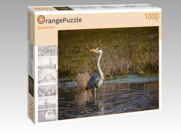"""Puzzle Motiv """"Graureiher"""" - Puzzle-Schachtel zu 1000 Teile Puzzle"""