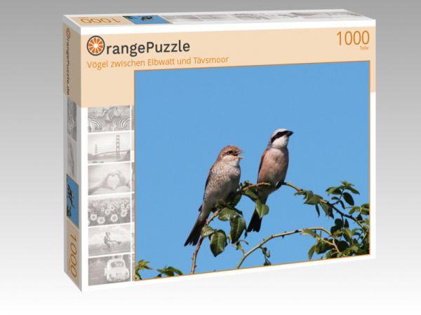 """Puzzle Motiv """"Vögel zwischen Elbwatt und Tävsmoor"""" - Puzzle-Schachtel zu 1000 Teile Puzzle"""