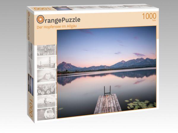 """Puzzle Motiv """"Der Hopfensee im Allgäu"""" - Puzzle-Schachtel zu 1000 Teile Puzzle"""