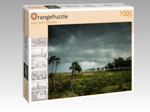 """Puzzle Motiv """"Nach dem Gewitter"""" - Puzzle-Schachtel zu 1000 Teile Puzzle"""