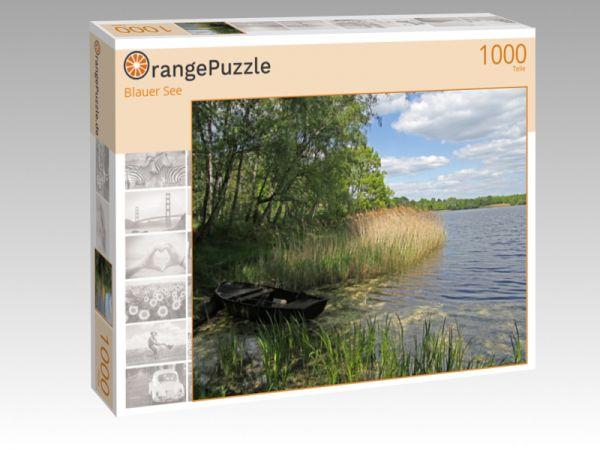 "Puzzle Motiv ""Blauer See"" - Puzzle-Schachtel zu 1000 Teile Puzzle"