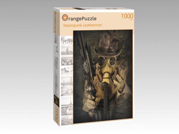 """Puzzle Motiv """"Steampunk Leatherman"""" - Puzzle-Schachtel zu 1000 Teile Puzzle"""