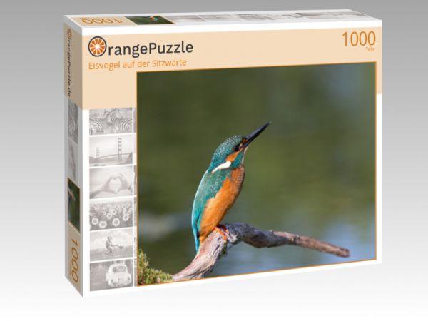 """Puzzle Motiv """"Eisvogel auf der Sitzwarte"""" - Puzzle-Schachtel zu 1000 Teile Puzzle"""