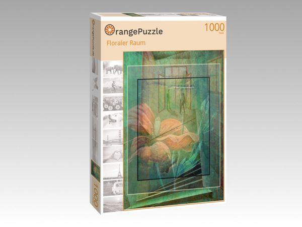 """Puzzle Motiv """"Floraler Raum"""" - Puzzle-Schachtel zu 1000 Teile Puzzle"""