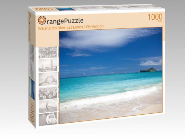 """Puzzle Motiv """"Weisheiten über das Leben / CH-Version"""" - Puzzle-Schachtel zu 1000 Teile Puzzle"""