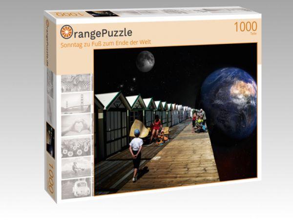 """Puzzle Motiv """"Sonntag zu Fuß zum Ende der Welt"""" - Puzzle-Schachtel zu 1000 Teile Puzzle"""