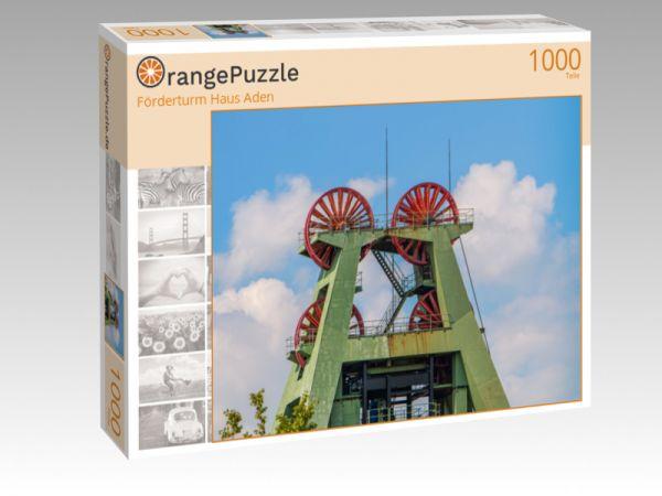 """Puzzle Motiv """"Förderturm Haus Aden"""" - Puzzle-Schachtel zu 1000 Teile Puzzle"""