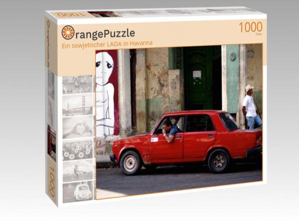 """Puzzle Motiv """"Ein sowjetischer LADA in Havanna"""" - Puzzle-Schachtel zu 1000 Teile Puzzle"""
