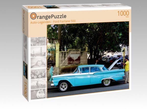 """Puzzle Motiv """"""""Auto-Legenden - Ford Fairlane 500"""""""" - Puzzle-Schachtel zu 1000 Teile Puzzle"""