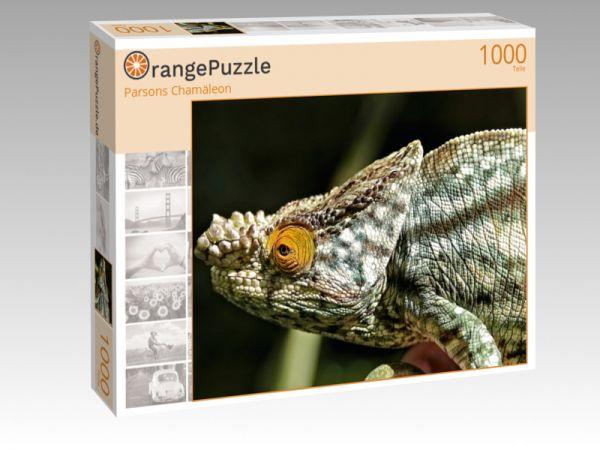 """Puzzle Motiv """"Parsons Chamäleon"""" - Puzzle-Schachtel zu 1000 Teile Puzzle"""