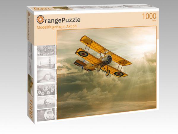 "Puzzle Motiv ""Modellflugzeug in Aktion"" - Puzzle-Schachtel zu 1000 Teile Puzzle"