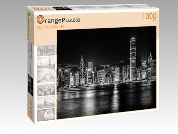 """Puzzle Motiv """"Skyline bei Nacht"""" - Puzzle-Schachtel zu 1000 Teile Puzzle"""