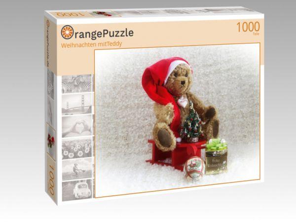 """Puzzle Motiv """"Weihnachten mitTeddy"""" - Puzzle-Schachtel zu 1000 Teile Puzzle"""