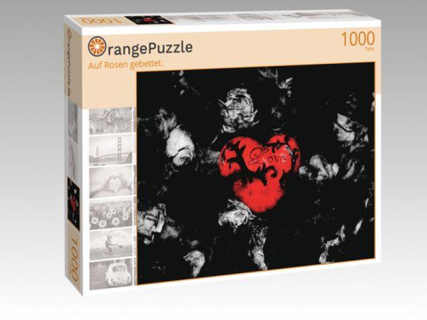 """Puzzle Motiv """"Auf Rosen gebettet."""" - Puzzle-Schachtel zu 1000 Teile Puzzle"""