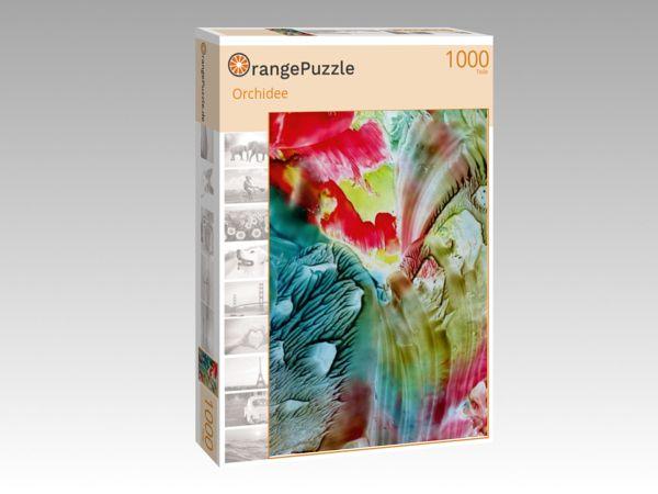 """Puzzle Motiv """"Orchidee"""" - Puzzle-Schachtel zu 1000 Teile Puzzle"""