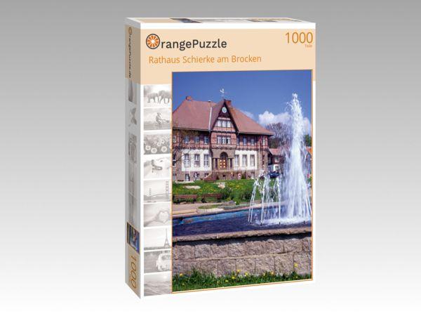 """Puzzle Motiv """"Rathaus Schierke am Brocken"""" - Puzzle-Schachtel zu 1000 Teile Puzzle"""