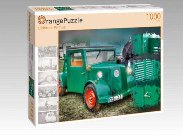 """Puzzle Motiv """"Oldtimer Primus"""" - Puzzle-Schachtel zu 1000 Teile Puzzle"""