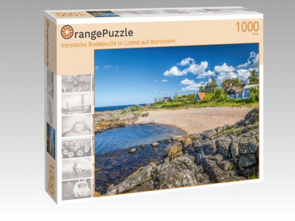 """Puzzle Motiv """"Verstecke Badebucht in Listed auf Bornholm"""" - Puzzle-Schachtel zu 1000 Teile Puzzle"""