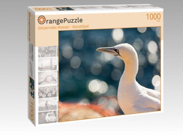"""Puzzle Motiv """"Glitzerndes Wasser - Basstölpel"""" - Puzzle-Schachtel zu 1000 Teile Puzzle"""