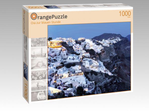 """Puzzle Motiv """"Oia zur blauen Stunde"""" - Puzzle-Schachtel zu 1000 Teile Puzzle"""
