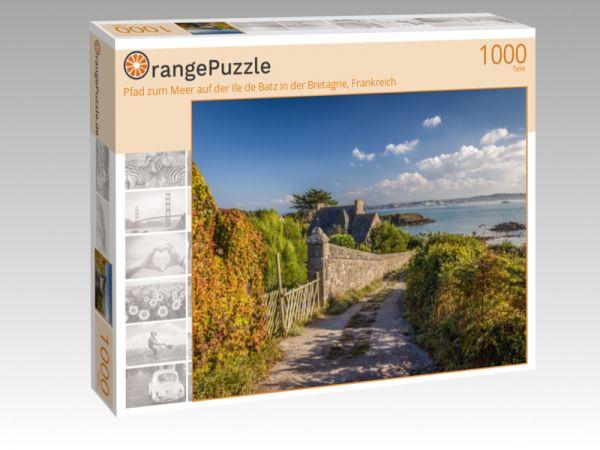 """Puzzle Motiv """"Pfad zum Meer auf der Ile de Batz in der Bretagne, Frankreich"""" - Puzzle-Schachtel zu 1000 Teile Puzzle"""