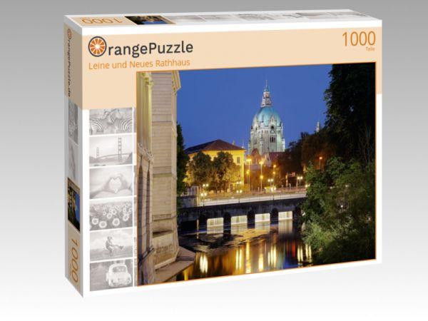 """Puzzle Motiv """"Leine und Neues Rathhaus"""" - Puzzle-Schachtel zu 1000 Teile Puzzle"""