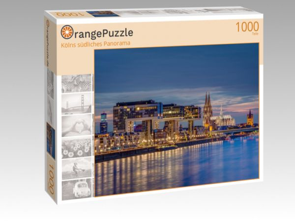 "Puzzle Motiv ""Kölns südliches Panorama"" - Puzzle-Schachtel zu 1000 Teile Puzzle"