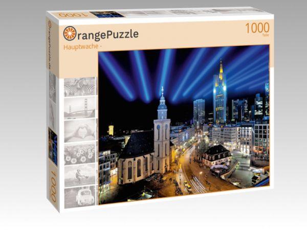 """Puzzle Motiv """"Hauptwache -"""" - Puzzle-Schachtel zu 1000 Teile Puzzle"""