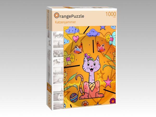 """Puzzle Motiv """"Katzenjammer"""" - Puzzle-Schachtel zu 1000 Teile Puzzle"""