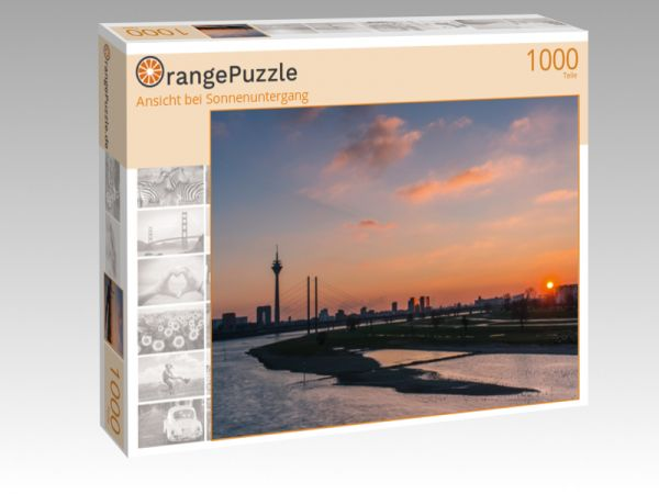 "Puzzle Motiv ""Ansicht bei Sonnenuntergang"" - Puzzle-Schachtel zu 1000 Teile Puzzle"