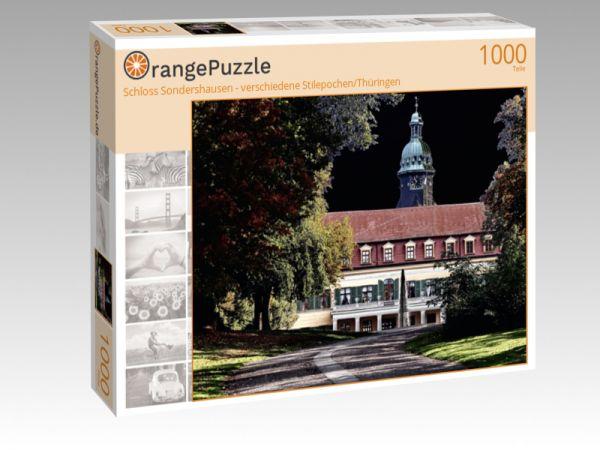 """Puzzle Motiv """"Schloss Sondershausen - verschiedene Stilepochen/Thüringen"""" - Puzzle-Schachtel zu 1000 Teile Puzzle"""