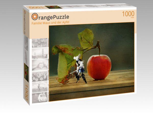 "Puzzle Motiv ""Familie Maus und der Apfel"" - Puzzle-Schachtel zu 1000 Teile Puzzle"
